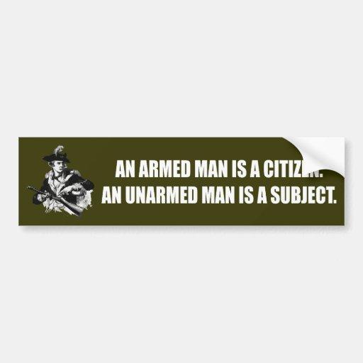 Patriot -Unarmed Man Bumper Stickers