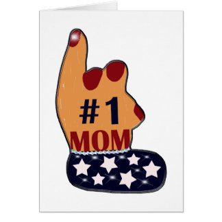 Patriotic #1 Mom Card