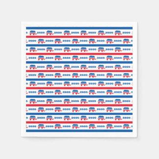 Patriotic 2020 Republican Elephant Stripes Disposable Napkin