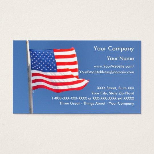 patriotic business card template