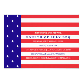 Patriotic 4th Of July | Party Invitation