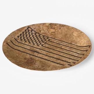 Patriotic 9 Inch Paper Plate