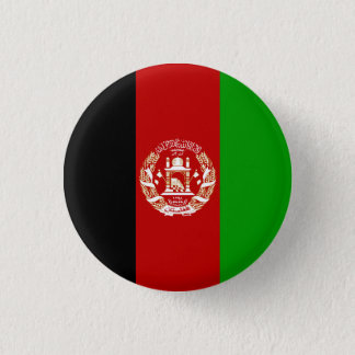 Patriotic Afghan Flag 1 Inch Round Button