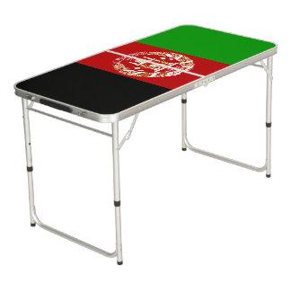 Patriotic Afghan Flag Beer Pong Table