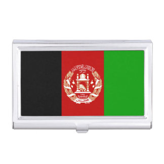 Patriotic Afghan Flag Business Card Holder