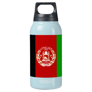 Patriotic Afghan Flag Insulated Water Bottle