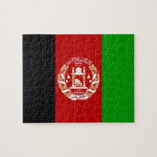 Patriotic Afghan Flag Jigsaw Puzzle