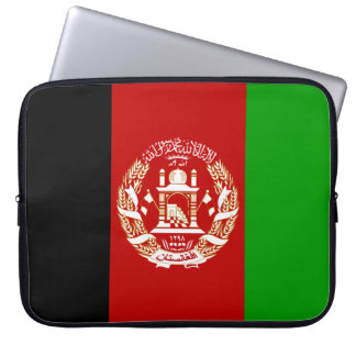 Patriotic Afghan Flag Laptop Sleeve
