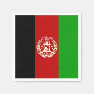 Patriotic Afghan Flag Paper Napkin