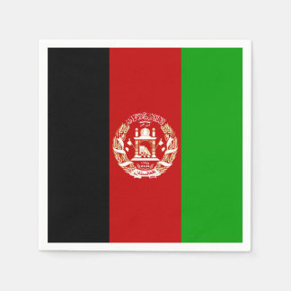 Patriotic Afghan Flag Paper Napkins