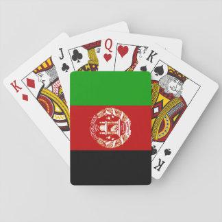 Patriotic Afghan Flag Playing Cards