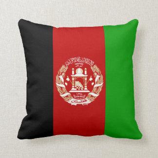 Patriotic Afghan Flag Throw Pillow