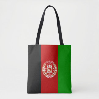 Patriotic Afghan Flag Tote Bag