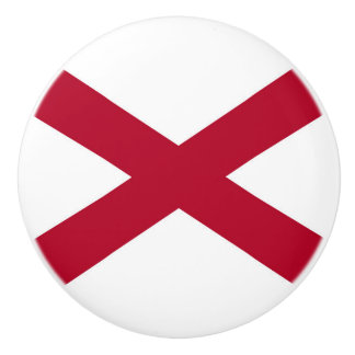 Patriotic Alabama State Flag Ceramic Knob