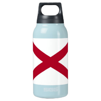 Patriotic Alabama State Flag Insulated Water Bottle