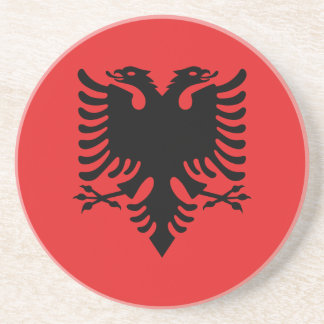 Patriotic Albanian Flag Beverage Coaster