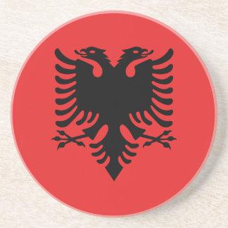Patriotic Albanian Flag Coaster