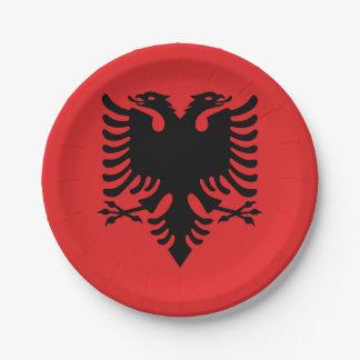 Patriotic Albanian Flag Paper Plate