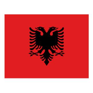 Patriotic Albanian Flag Postcard