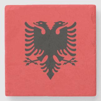 Patriotic Albanian Flag Stone Coaster