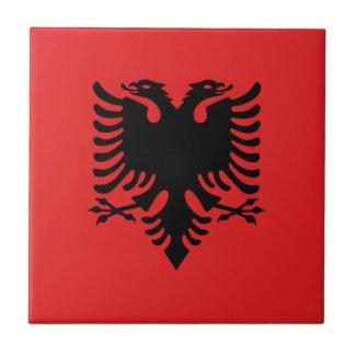 Patriotic Albanian Flag Tile