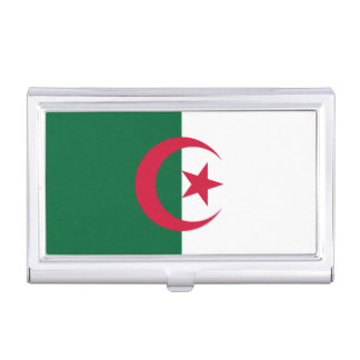 Patriotic Algerian Flag Business Card Holder