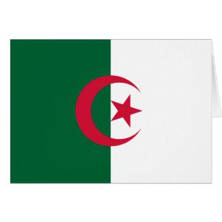 Patriotic Algerian Flag Card