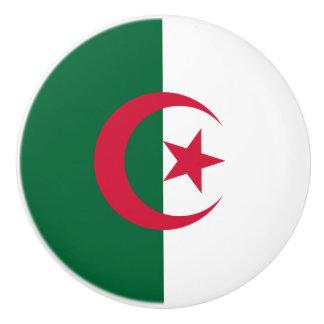 Patriotic Algerian Flag Ceramic Knob