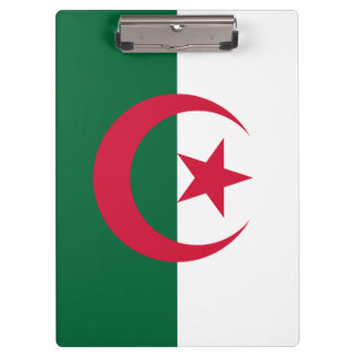 Patriotic Algerian Flag Clipboard