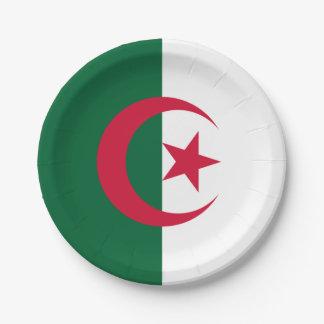 Patriotic Algerian Flag Paper Plate
