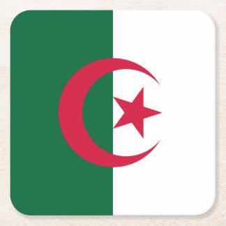 Patriotic Algerian Flag Square Paper Coaster