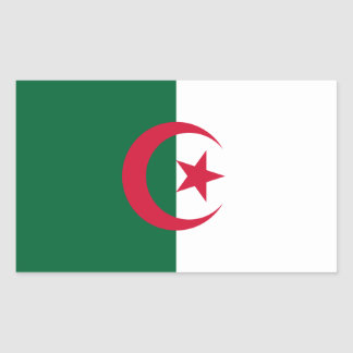 Patriotic Algerian Flag Sticker