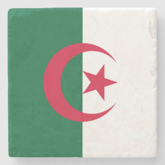 Patriotic Algerian Flag Stone Coaster