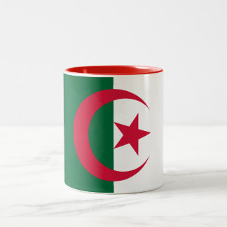 Patriotic Algerian Flag Two-Tone Coffee Mug