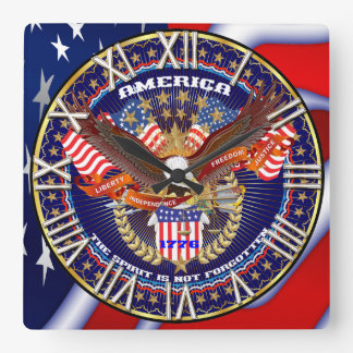 Patriotic All Styles Please View Artist Comments Wall Clock