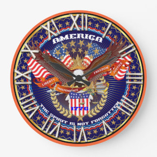 Patriotic All Styles Please View Artist Comments Wallclocks