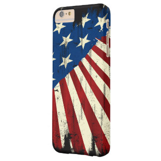 Patriotic America Grunge Flag Barely There iPhone 6 Plus Case