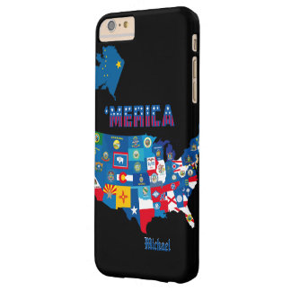 Patriotic America Map With States Flags Barely There iPhone 6 Plus Case