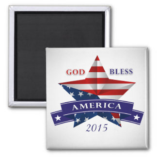Patriotic America Star Design (v2) Customize Magnet