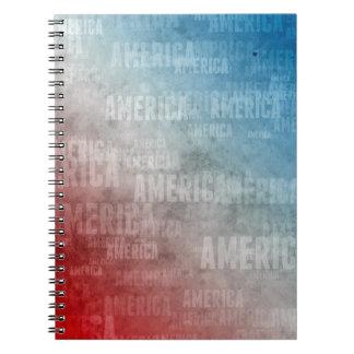 Patriotic America Text Graphic Note Books