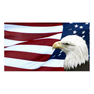 Patriotic American business or profile card Pack Of Standard Business Cards