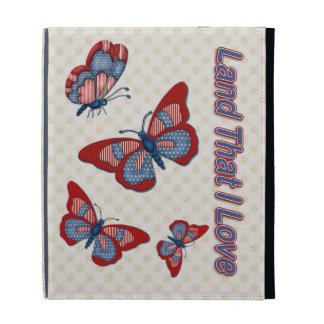 Patriotic American Butterflies iPad Case