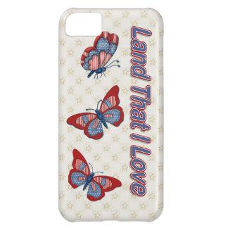 Patriotic American Butterflies Case-Mate iPhone 5C Covers