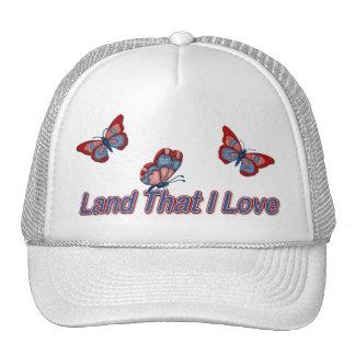 Patriotic American Butterflies Hats