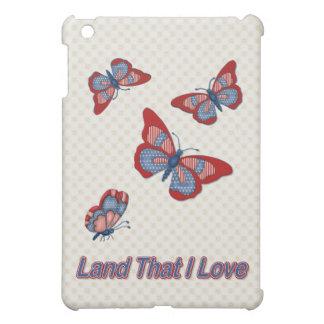 Patriotic American Butterflies iPad Mini Case