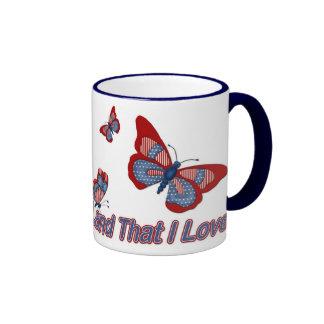 Patriotic American Butterflies Mugs