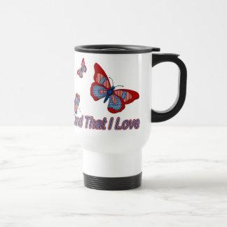 Patriotic American Butterflies Stainless Steel Travel Mug