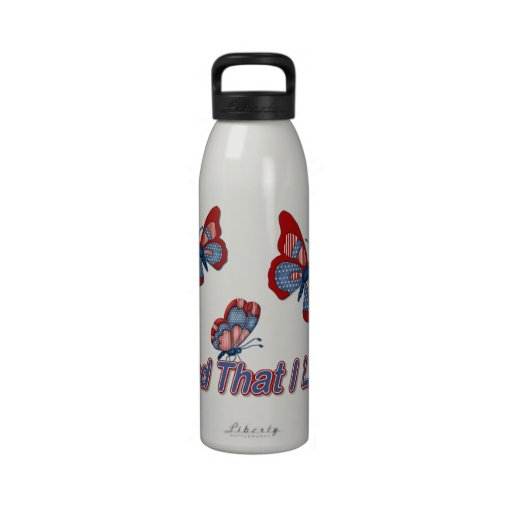 Patriotic American Butterflies Reusable Water Bottles