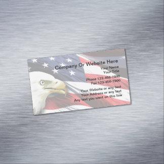 Patriotic American Design Magnetic Business Card