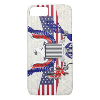 Patriotic American eagle iPhone 7 Case